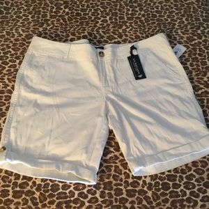 US Polo NWT White Cotton Spandex Shorts